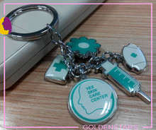 Medical supplies pendant key holder for doctor gifts/New engraved smart custom metal key chain factory