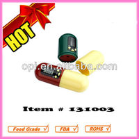 Fashion Capsule Shaped Pill Box with Timer
