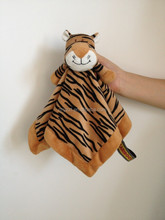 plush tiger doudou blanket for baby/baby heated blanket/OEM and ODM plush doudou lion blanket baby toys