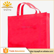 wholesale customized promotional red reusable non-woven shopping bag manufacturer