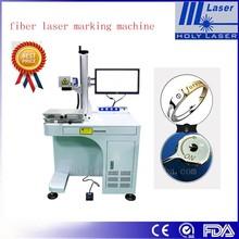 marking on tin ,ring fiber laser marking machine no damage and fast