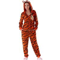Hot Sale Adult Animal Onesie Microfiber Fleece Hooded Costume Sleepwear Pajama Suit Animal Kigurumi Tiger Onesie For Women Men