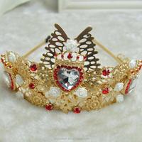 baroque flower bridal headband, princess crown hair jewelry(SWTJU453)