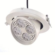 White/ Silver natural white spot led downlight housing die casting high quality