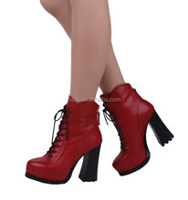2015 newest ankle high heel fashion genuine leather sgladiator thigh high women boots