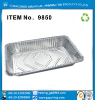 full size aluminium foil steam table pan cookie sheet pan with lid