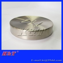 elegant stainless steel circle soap case