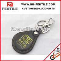 313287 Cheapest leather keychain pu key ring
