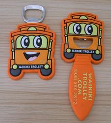Hawaii waikiki trolley magnetic bottle opener
