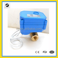 """AC24V min 3/8"""" and 5/8"""" electric 2-way valve with 5 wires for computer system"""