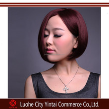 New Lady Fashion BoBo Short Straight Wigs Dance Party Synthetic Wigs