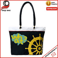 Black and yellow fashion popular Beach Tote Shoulder Bag