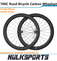 700c road bicycle wheels of 60mm carbon tubular wheels 25mm width of carbon wheelset for road bike