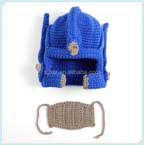 High Quality Custom Man Crochet Pattern Knight Helmet Hat Buy