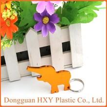 HXY Promotional Engraved Keychain Elephant Key Chain, Elephant Keychain