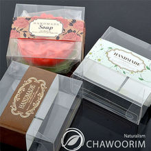transparency square soap candle candy multipurpose gift pvc packing box