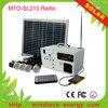 10w 12v mini led solar lighting kit with radio for home use