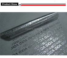 Anti-thief total transfer tamper evident VOID label material/ silver full residue security void label material