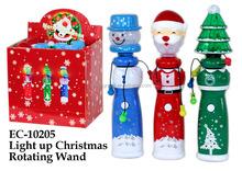 Christmas Party Toys Light Up Christmas Rotating Wand