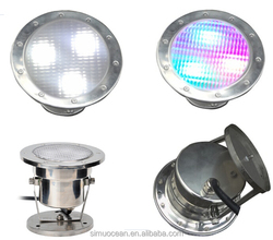 Stainless Steel 316# IP68 led boat lights with MOQ 1PCS 1-3 Working days delivery