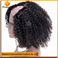 Afro kinky curly Brazilian human hair u part wig best quality u part wig for sale