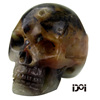 """2"""" natural agate gemstone stone carved human skull sculpture,carved statue for home decoration,"""