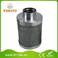 """Active Carbon Air Filter for Greenhouse 4""""*200mm 50mm Carbon Bed"""