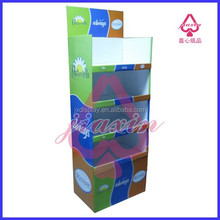 2015 new style cardboard paper floor display stand retail supplies