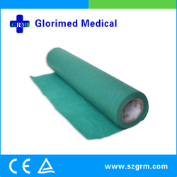 Blue PE Laminated Nonwoven Examination Roll Material in Disposable Medical Supplies