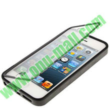 Transparent TPU Flip Cover for iPhone 5S & 5