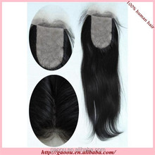 wholesale top high quality 100% human hair 3 way part swiss lace closure