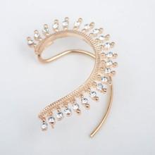 Fashion jewelry amazing cuff earrings ,punk style earrings women elegant alloy cuff/ear wrap clip/crystal gold earrings
