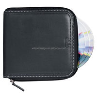 China factory direct wholesale hot sale pu leather Cd holder