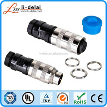 IP67 Waterproof Male Female 2-24pins m16 assembly connector straight and angled m16 field wire connector