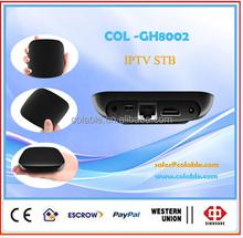 iptv android tv box ,hd set top box ,tv box support external bluetooth COL-GH8002