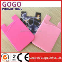 2015 Hot promotional low cost portable fashion 3m phone sticky wallet,Promotional adhesive custom cell phone wallet