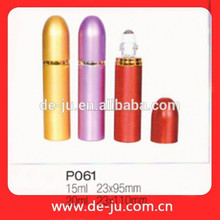 Moda colorida de aluminio promoción botella de Perfume venta botella de Perfume vacía