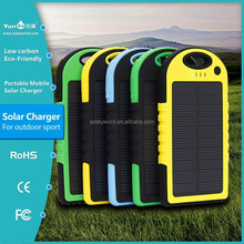 5000mAh solar power bank rohs solar cell phone charger portable solar charger for mobile phone