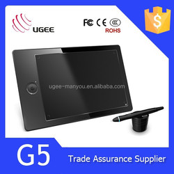 Ugee 2048 levels 9x6 inches 5080LPI 8GB storge g5 digital writing tablet