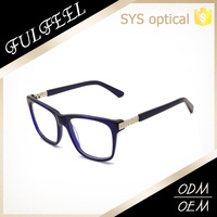 Simple design thin leg temple essential acetate eyewear frame
