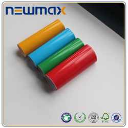Competitive price colour pvc sticker paper waterbased glue with white release