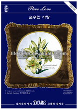 Beautiful flower cross-stitch hand embroidery design patterns creative pillow case