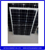 Super quality Monocrystalline material pv solar panel 55W low price