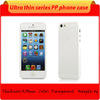 Slim profile ultra thin crystal clear hard cell phone case for apple iphone 5