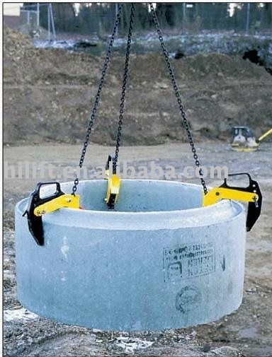 Concrete pipe lifting clamp view hilift