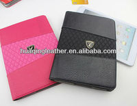 New style luxury leather case with card slot and embossing for table pc