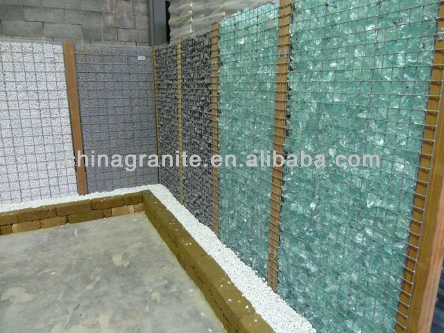 Colored Glass Rock Gabion Buy Glass Rock GabionBlue