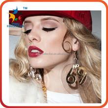 High quality big lastest design fashion crystal earrings, fashion earrings,earring factory china
