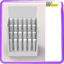 New Design Test Tube 4 Row for Women Lipslick paper glue correction fluid Cardboard Display PDQ Display Shelf