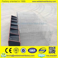 Welded wire mesh animal cage with wooden box for mink /rabbit/bird